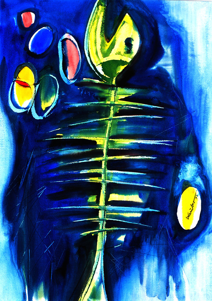 Schuberts Forelle blau