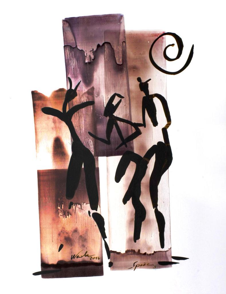 Spuren Tänzer